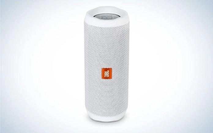 JBL white portable Bluetooth outdoor speaker
