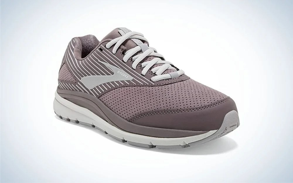 Brooks walking shoes for men with white laces