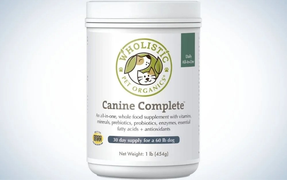wholistic canine is the best multivitamin for dogs