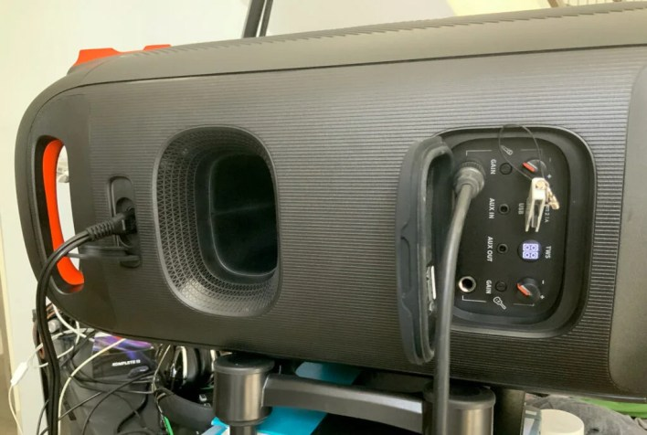 JBL partybox speaker rear panel
