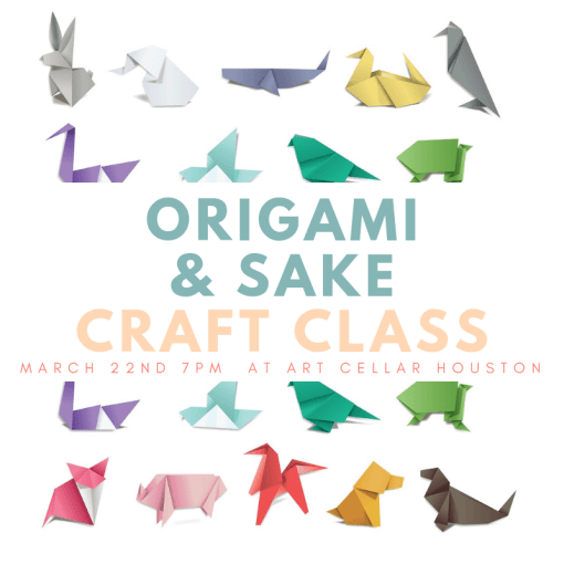 march 22nd origami art class houston pop shop america