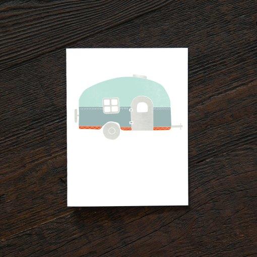 airstream greeting cards vintage camper card set