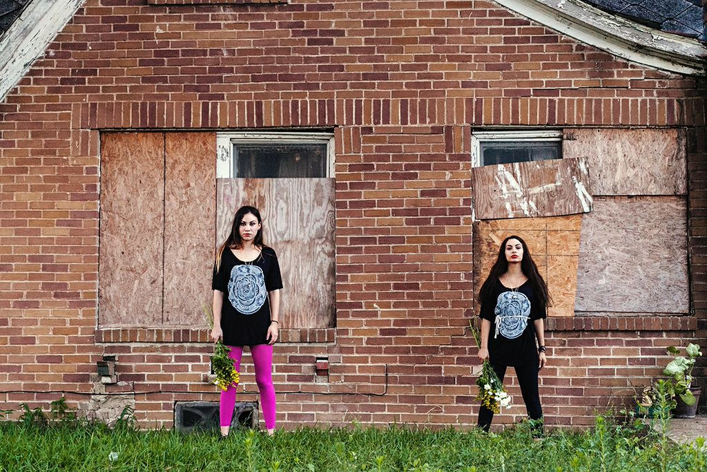 Abandoned House | 3rd Ward Houston | Creepy Girls | Fashion Photography | Supermaggie | Mandala T Shirt