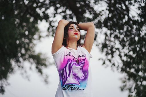 Airbrush Unicorn T Shirt | Dreams Come True | Handmade Clothing | Made in Texas