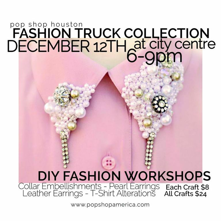 DIY Fashion Workshops at Fashion Truck Collection City Centre | DIY T Shirts and Earrings at City Centre with Pop Shop America Craft Company