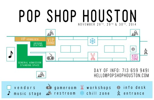November 2014 Pop Shop Houston Festival Map | Black Friday Weekend Silver Street Studios