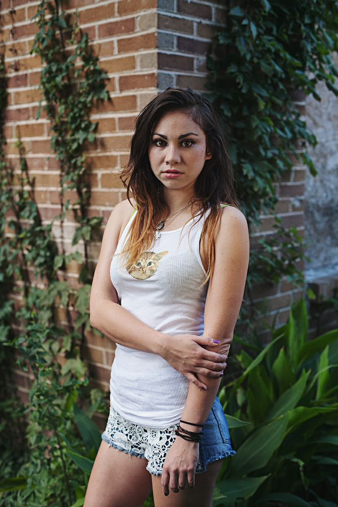 Val wearing Kitten Tank Top | Kitten T-Shirts | Shop at Pop Shop America for Handmade Clothing | Handmade from Texas