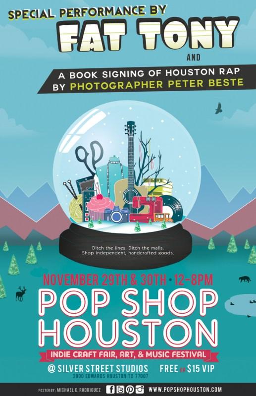 Fat Tony at Pop Shop Houston Festival | Art and Music in Houston TX | Live Music at Pop Shop Houston Art Festival | Black Friday Weekend 2014 Silver Street Studios