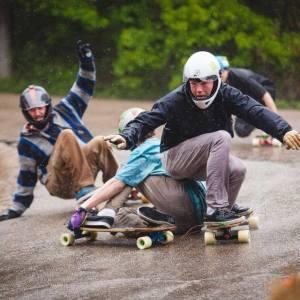 Garage Racing Event Houston TX by Carve Skate Shop Longboard Skateboarding