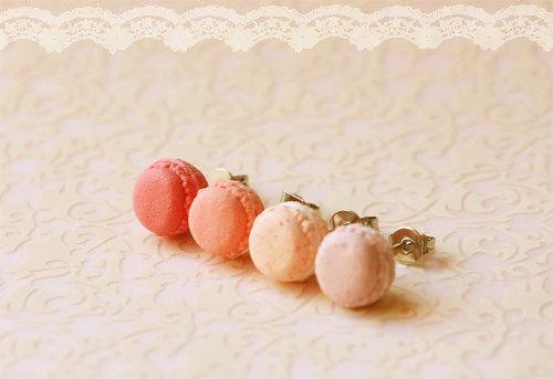 Pink Macaron Earrings Pop Shop America Kawaii Gift Shop
