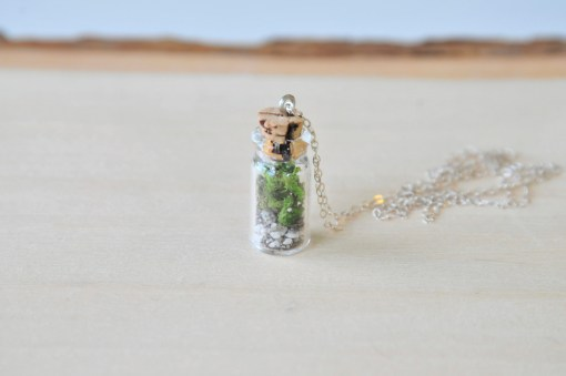 Terrarium Necklace Sterling Silver Jewelry by Pop Shop America