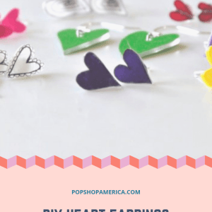 DIY Heart Earrings by Pop Shop America