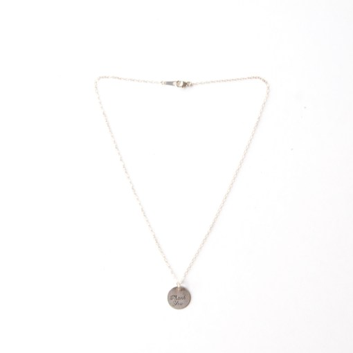 Thank You Necklace Handcrafted Jewelry at Pop Shop America handmade fashion