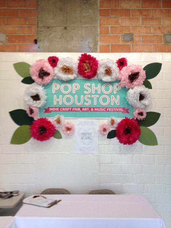 Front Desk of Pop Shop Houston Event Handmade Weddings Indie Boho Bridal Event Houston