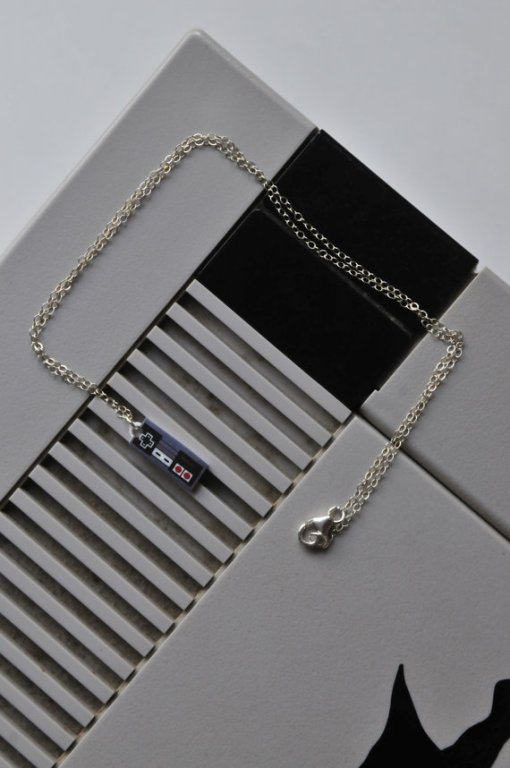 Sterling Nintendo Necklace