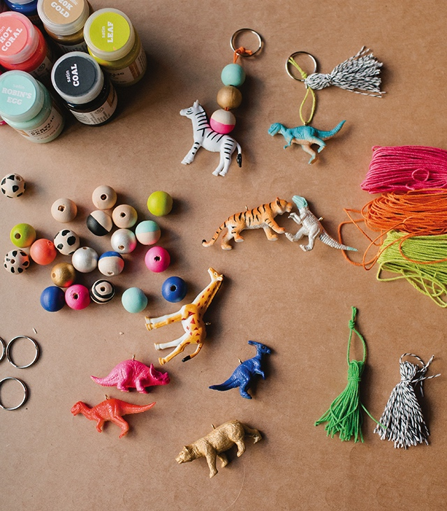 backpack bling animal toy and wood bead charms pop shop america