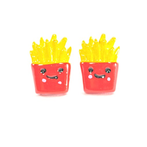 Kawaii French Fry Stud Earrings