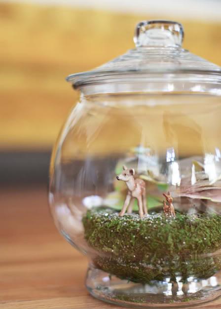 woodland animal terrarium diy pop shop america