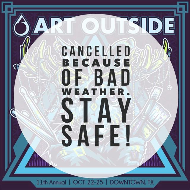 Art Outside Rain Cancellation | Art Outside Festival Oct. 2015