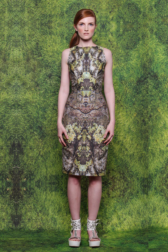 Lichen Photo Print Dress by Community Athens GA