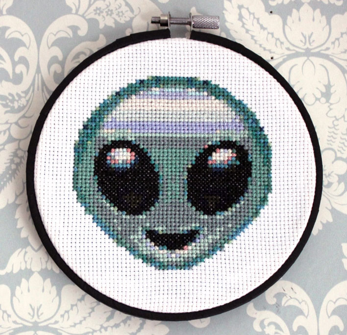 Alien Embroidery By Michelle Gauthier Embroidery Art Pop Shop