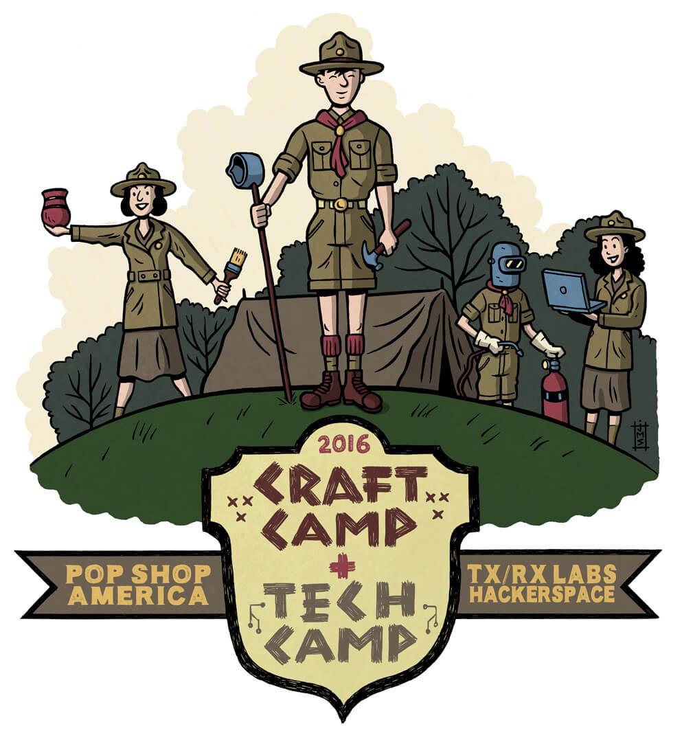craft summer camp and tech summer camp houston txrx 2016
