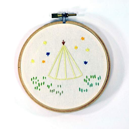 teepee embroidery art 1 | embroidery art by bedthreads | Find Cool Art and Art Events at Pop Shop America Shop