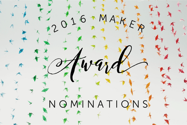 2016 maker award nominations pop shop america