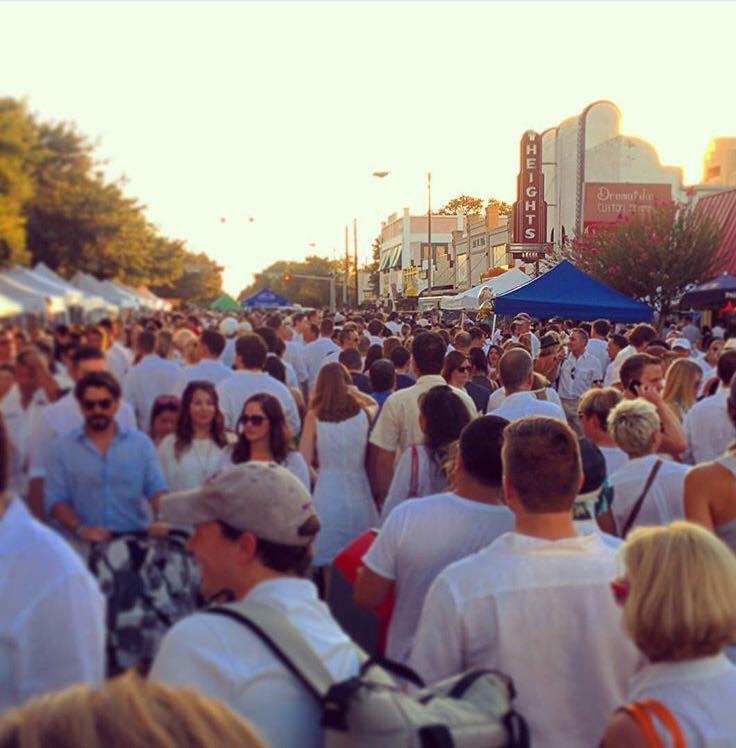 white linen night in the heights art market festival houston