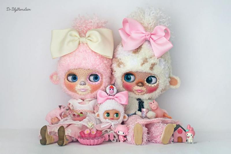 Dr Blythenstein Blythe Pink and White Yarnhead Friends
