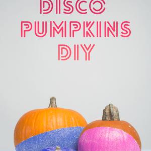 disco pumpkins diy with title no carve pumpkins