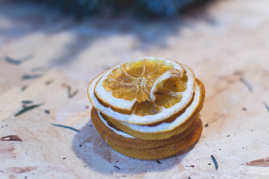 Dried orange slices decoration for DIY Natural Christmas Wreath