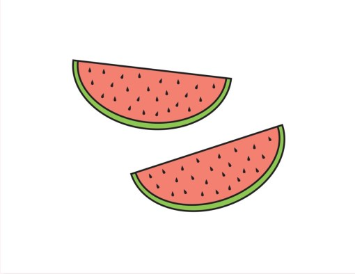 watermelon temporary tattoos_white only