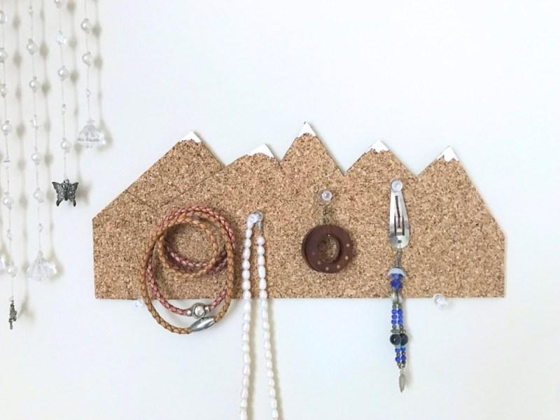 bright snowy mountain cork board diy pop shop america