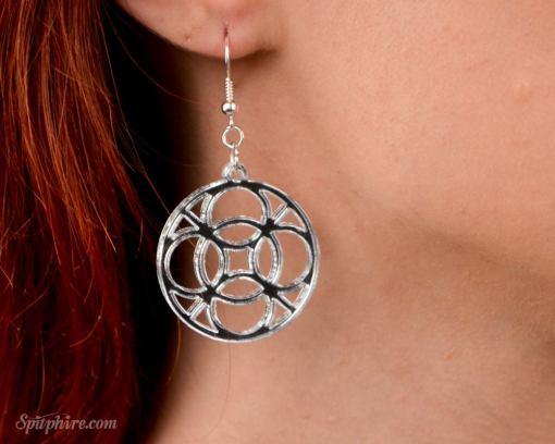 mirror sterling silver earrings pop shop america