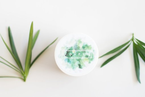 packaging of tea tree shea body butter by lovely texas beauty products