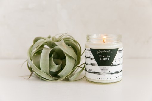 vanilla amber hand poured candle by falling into place