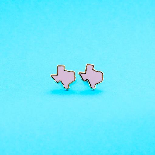pink texas stud earrings 22k gold studs