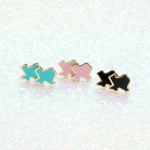 rainbow texas stud earrings hero pop shop america