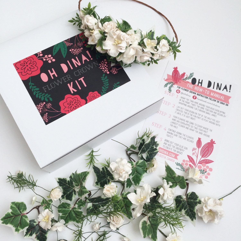 White flowers diy flower crown kit pop shop america white flowers diy flower crown kit pop shop america izmirmasajfo