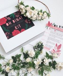 white flowers diy flower crown kit pop shop america
