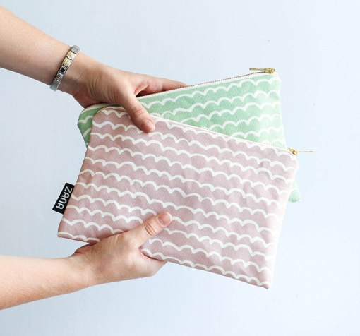 pink-waves-canvas-clutch-purse-handmade-in-south-africa-by-zana