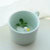 mint ceramic mug with duck cute home goods