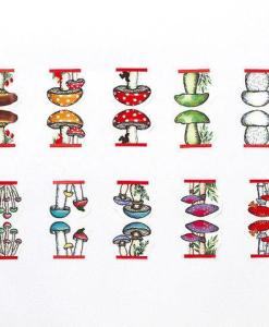 mushroom washi tape made in japan