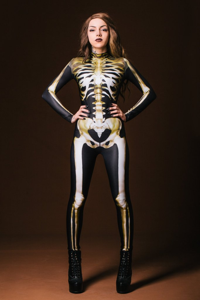 skeleton halloween catsuit - pop shop america