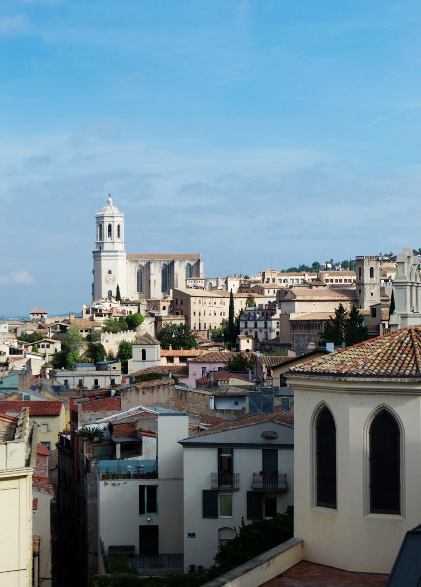 Girona, Spain - old city walls