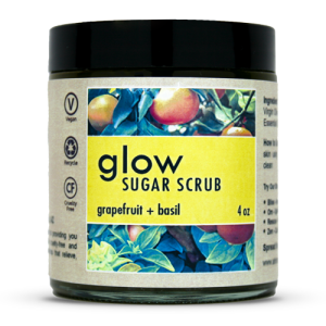 glow sugar scrub by ahimsa essentials pop shop america