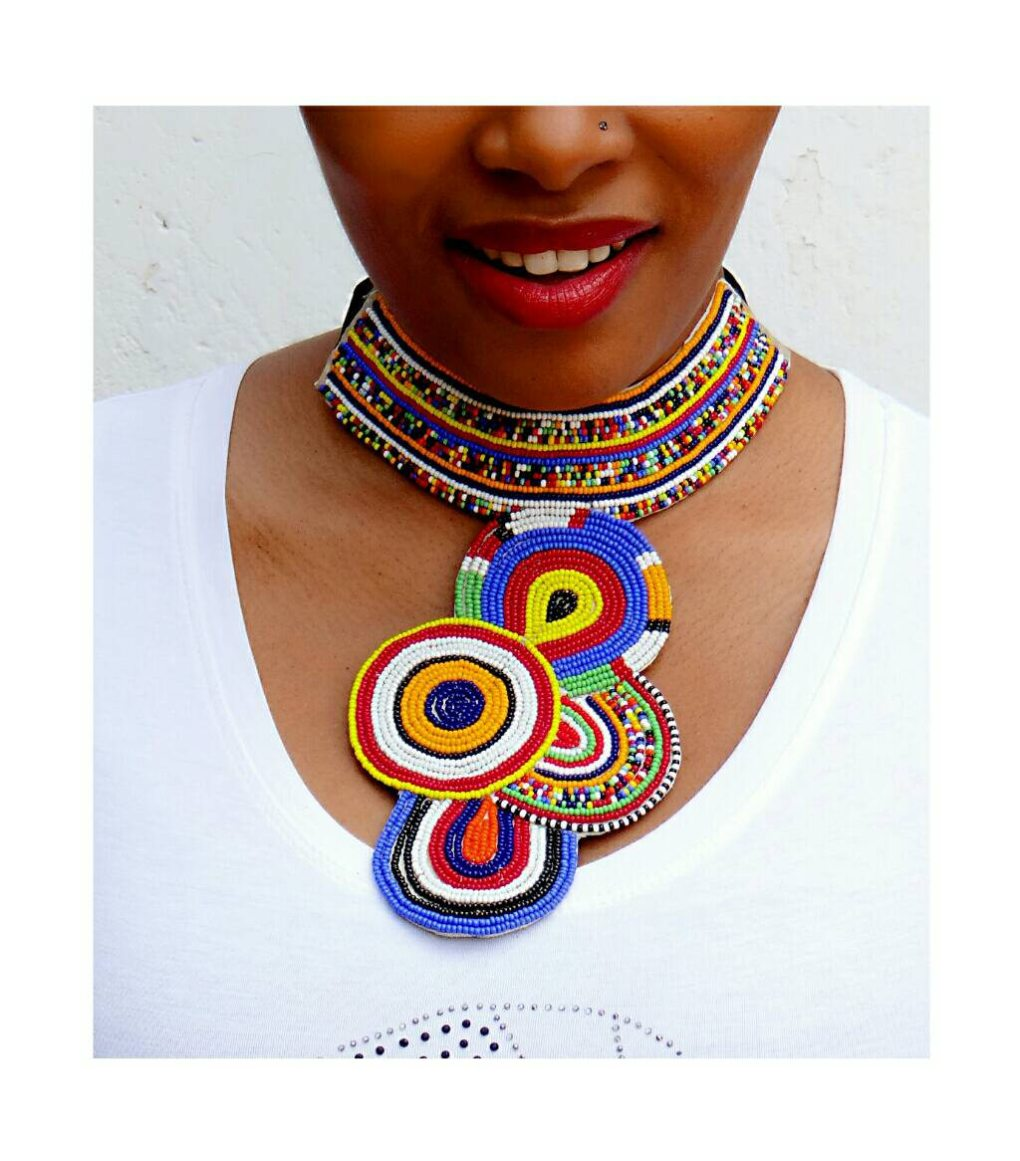 african zuri seed bead necklace pop shop america