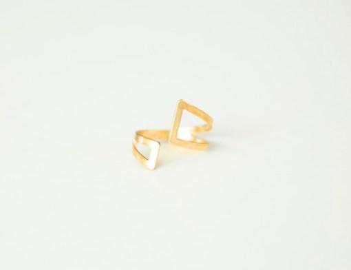 brass geometric jewelry open wrap ring pop shop america