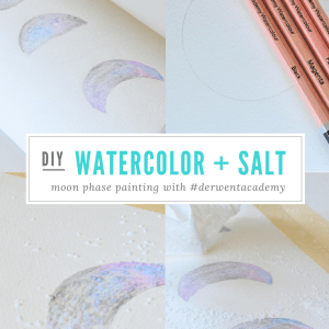 diy watercolor salt moon phase painting with derwent academy